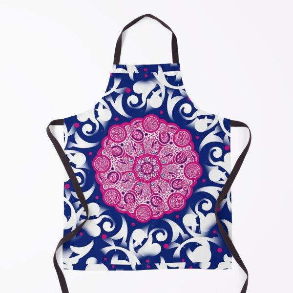 Boho Pattern, Pink and Blue Ethnic design Apron