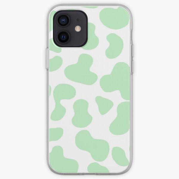 Motif vache verte menthe Coque souple iPhone