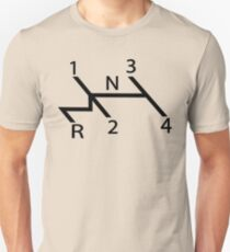 vw shift diagram in black Unisex T-Shirt