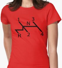 vw shift diagram in black Womens Fitted T-Shirt