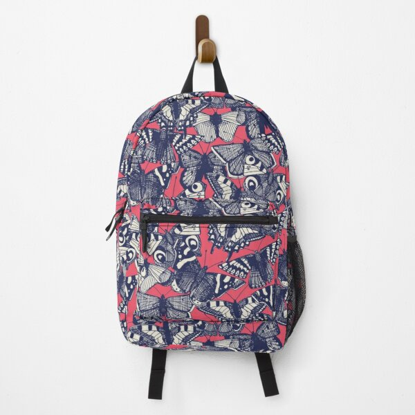 butterfly strawberry pink Backpack