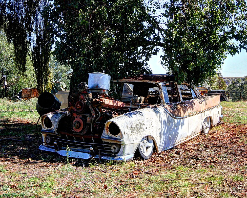 Tight Squeeze, No wont go,  Old Holden by Kym Bradley