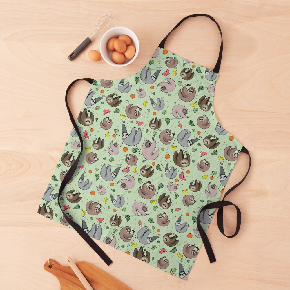 Sloths in Green Apron