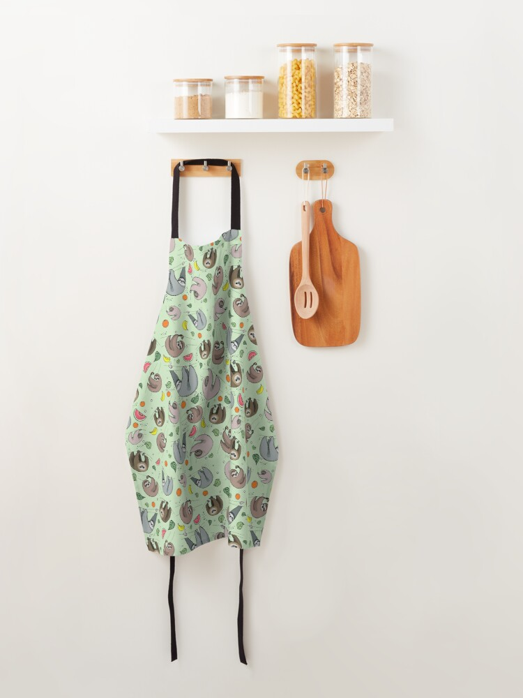 Alternate view of Sloths in Green Apron