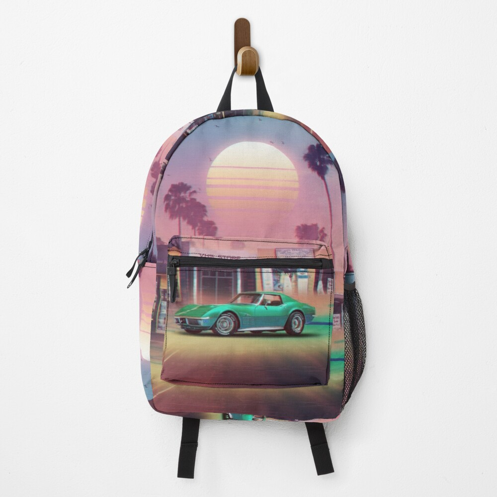Synthwave Sunset Drive Backpack