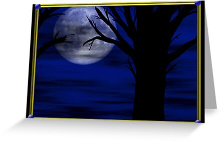Moon Night Card by 319media