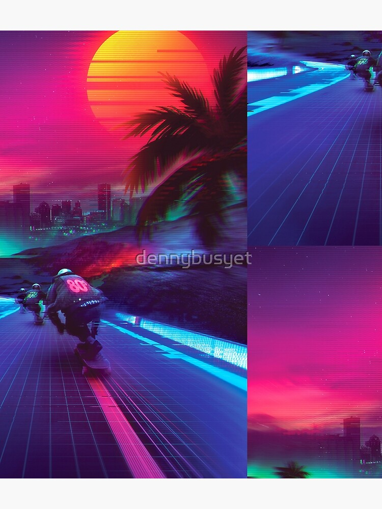 Synthwave Midnight Outrun by dennybusyet