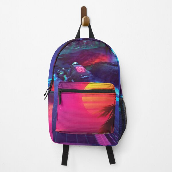 Synthwave Midnight Outrun Backpack