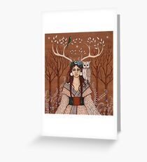 Wood Witch Greeting Card
