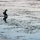 Fisherman On Way Home, Sanur Beach, Bali by Vince Russell