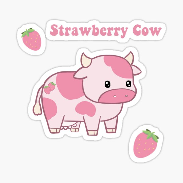Strawberry Cow Pack Sticker