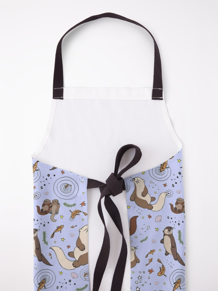 Alternate view of Otters in Purple Apron