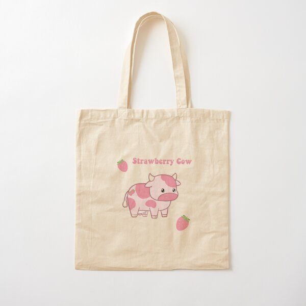 Strawberry Cow Pack Cotton Tote Bag