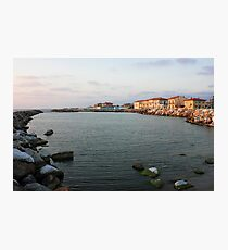 Marina di Pisa sunset view of the town Photographic Print