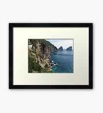 Faraglioni Rock formation on island Capri Framed Print