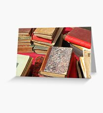 Piles of old books Greeting Card