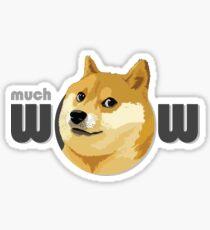 So Doge, much dog, many swag Sticker