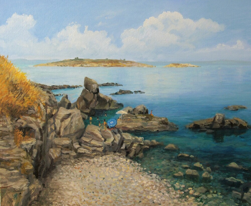 On The Rocks in The Old Part of Sozopol by kirilart