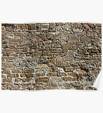 Ancient Stone Wall Background Poster