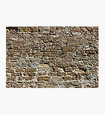 Ancient Stone Wall Background Photographic Print