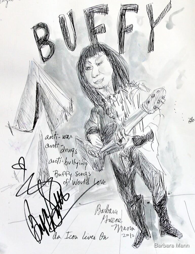 Buffy St. Marie by Barbara Mann