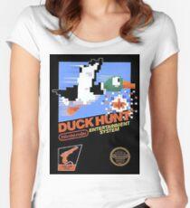 Duck Hunt Nes Art Women's Fitted Scoop T-Shirt