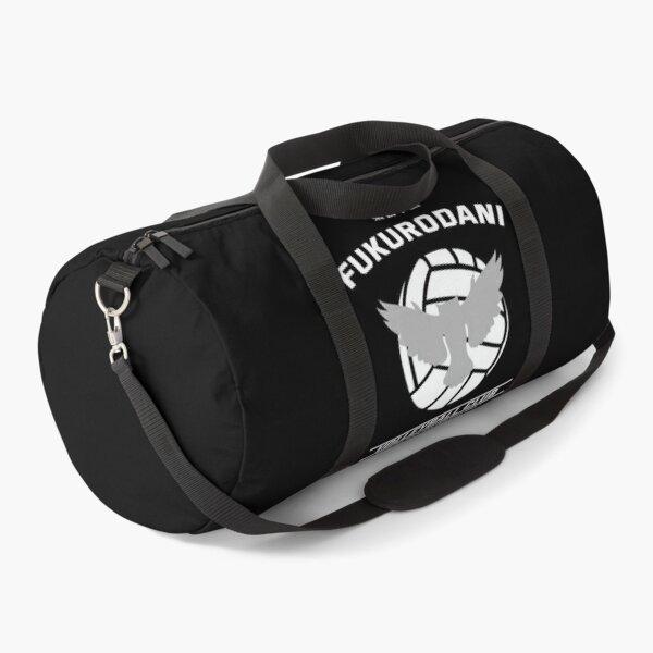 Haikyuu!,Fukudorani High School Volleyball Club, Hey Hey Hey, White Text Duffle Bag
