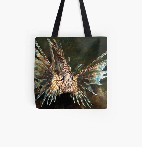 Feuerfisch | Frei schwimmend im weiten Meer |  Allover-Print Tote Bag