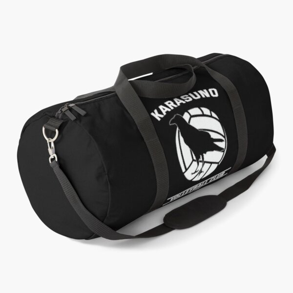 Haikyuu!,Karasuno High School Volleyball Club, White Text Duffle Bag