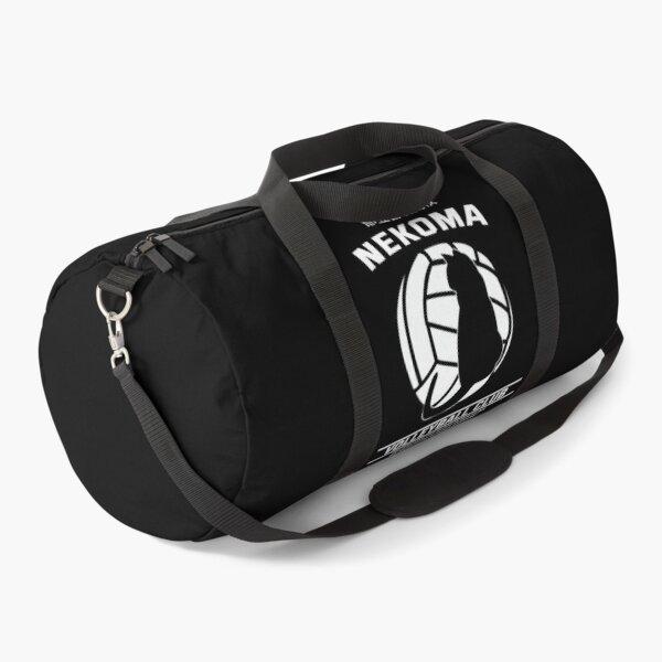 Haikyuu!,Nekoma High School Volleyball Club, White Text Duffle Bag