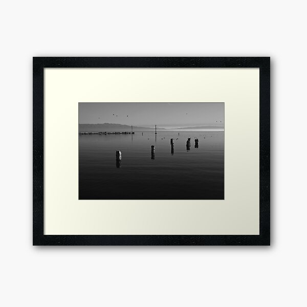 North Shore of Salton Sea Sunrise Framed Art Print