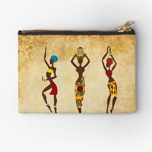 Dancing African women art Zipper Pouch