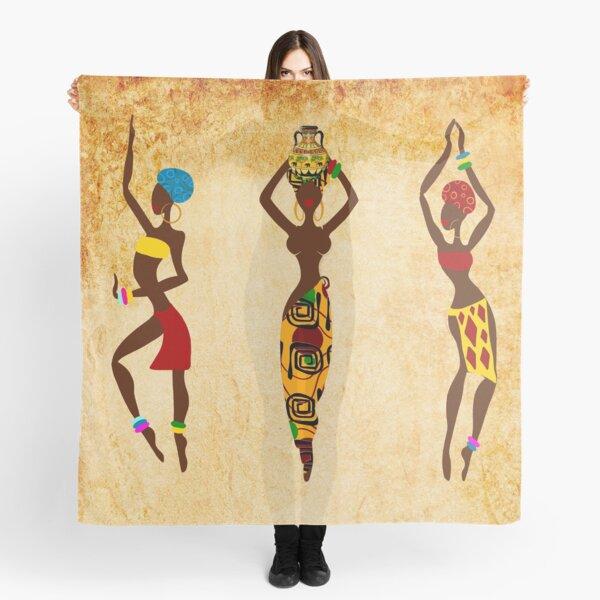 Dancing African women art Scarf