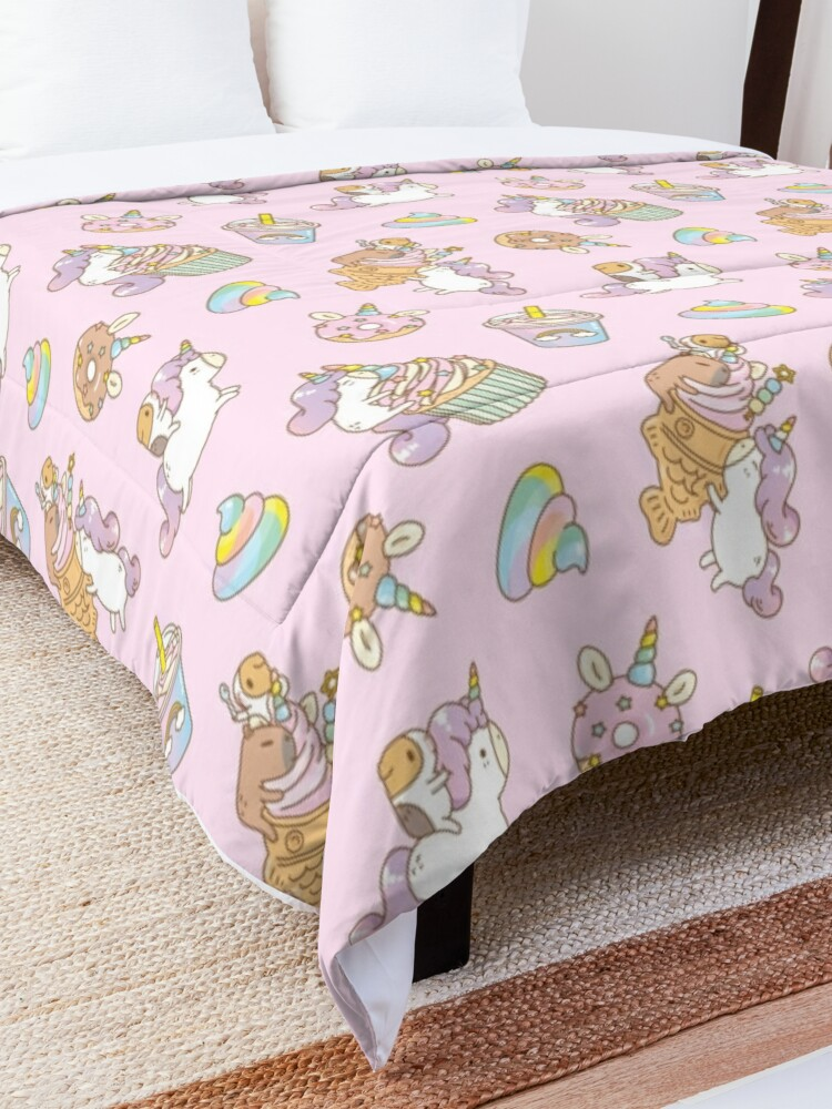 Alternate view of Bubu the Guinea pig, Unicorn Party  Comforter