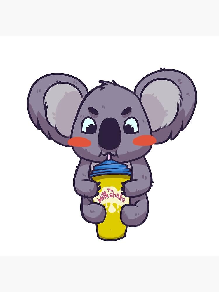 Koala bebiendo un batido de FuzzyCastle