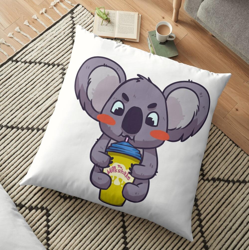 Koala bebiendo un batido Cojines de suelo