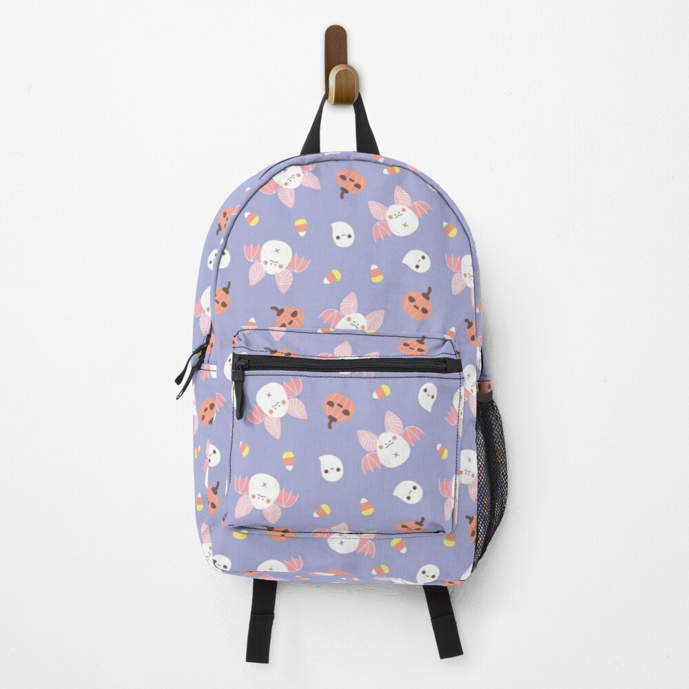 Pastel Kawaii Halloween Bat Pattern  Backpack