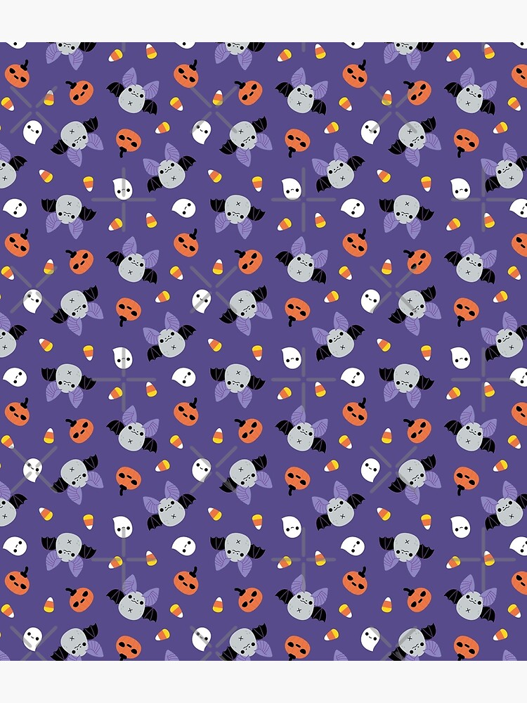 Halloween Bat Pattern  by Miri-Noristudio
