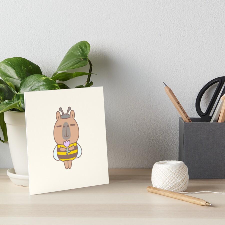 Capybara in Bee Costume  Art Board Print