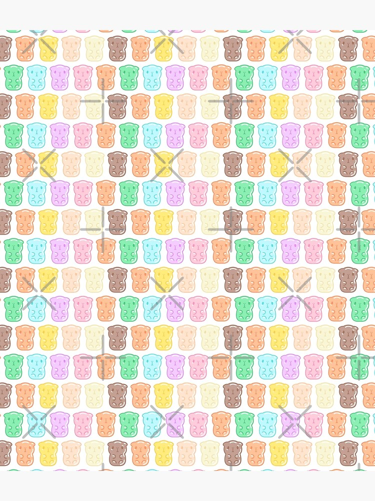 Rainbow Gummy Candy Guinea Pigs Pattern  by Miri-Noristudio