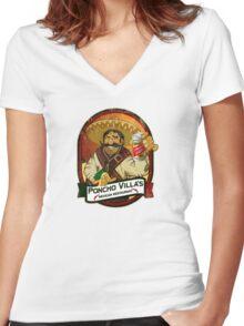 Poncho Villa Women's Fitted V-Neck T-Shirt