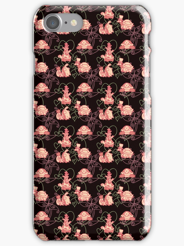 Black and Pink Turtle Pattern by SaradaBoru