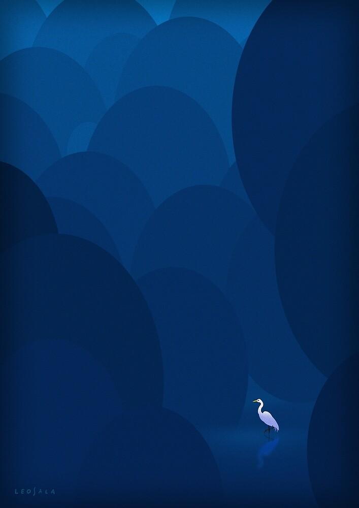 White Crane by Leonardo Sala