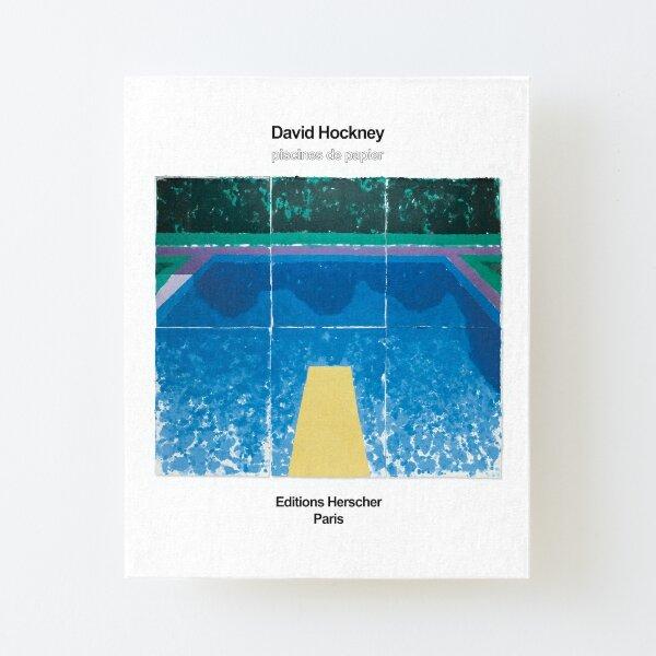 """Affiche d'art de l'exposition David Hockney - """"PISCINES DE PAPIER"""" Impression montée sur toile"""