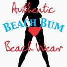 Authentic Beach Bum Neon Pink Bikini by pjwuebker