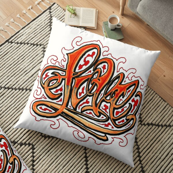 Love or hate but there should be more love Floor Pillow