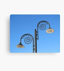 The street lamps Canvas Print