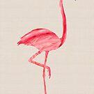 Pink Flamingo by Fiona Christensen