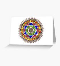 colorfull mandala Greeting Card