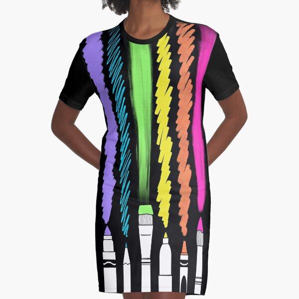 Dark Art Day Graphic T-Shirt Dress